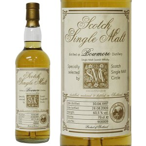 ボウモア 12年 スコッチ シングルモルト サークル [1997年] 700ml 60.5% 正規品・箱なし(ウイスキー)|paz-work