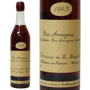 フランシス ダローズ ドメーヌ ド ラ バタイユ 1943年 700ml 並行品・箱なし 古酒(ブランデー・フランス)|paz-work