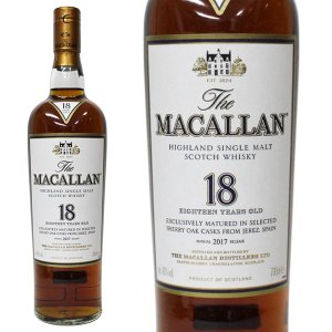 マッカラン 18年 [2017年] 700ml 40% 正規品・箱なし(ウイスキー) paz-work