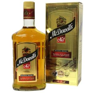 マクダウェル No.1 インド ウイスキー 750ml 42% 並行輸入品 箱付き(ウイスキー)|paz-work