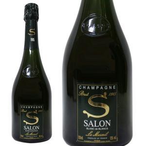 サロン ブラン ド ブラン ブリュット ル メニル ミレジム[1985年] 750ml 正規品・箱なし(シャンパン)|paz-work