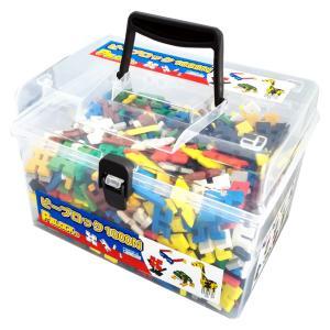 ピーブロック「コンテナセット1000」知育玩具 教材 組み立て 創造力  1000ピース 10色 多種 共同遊び|pblock