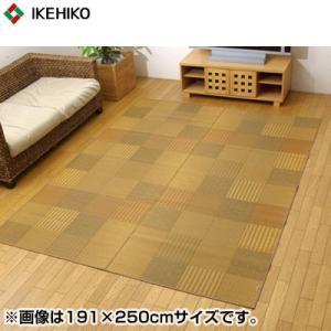 イケヒコ・コーポレーション 純国産 袋織 い草ラグカーペット 『京刺子』 ベージュ 約191×300cm 1706840 pc-akindo