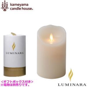 ルミナラ LEDキャンドル ピラー ローズの香り 3.5×5 LUMINARA ギフトボックス付き B03000000B アイボリー|pc-akindo