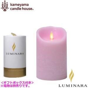 ルミナラ LEDキャンドル ピラー ローズの香り 3.5×5 LUMINARA ギフトボックス付き B03000000BPK ピンク|pc-akindo