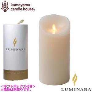ルミナラ LEDキャンドル ピラー ローズの香り 3.5×7 LUMINARA ギフトボックス付き B03010000B アイボリー|pc-akindo