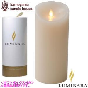ルミナラ LEDキャンドル ピラー ローズの香り 4×9 LUMINARA ギフトボックス付き B03020000B アイボリー|pc-akindo