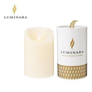 LUMINARA LEDキャンドル ピラー スリムタイプ ルミナラ ギフトボックス入り kameyama アイボリー Sサイズ B03070010BIV|pc-akindo