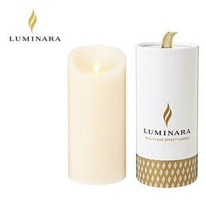 LUMINARA LEDキャンドル ピラー スリムタイプ ルミナラ ギフトボックス入り kameyama アイボリー Mサイズ B03070020BIV|pc-akindo