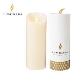 LUMINARA LEDキャンドル ピラー スリムタイプ ルミナラ ギフトボックス入り kameyama アイボリー Lサイズ B03070030BIV|pc-akindo