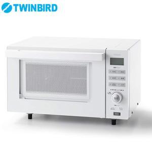 ツインバード 18L 縦開き フラットオーブンレンジ 赤外線センサー DR-E852W ホワイト|PCあきんど