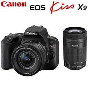 キヤノン デジタル一眼レフカメラ EOS Kiss X9 ダブルズームキット ブラック EOSKIS...