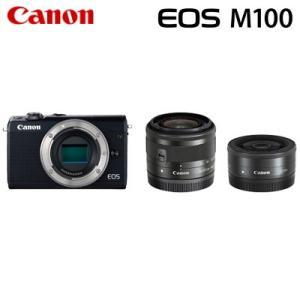 Canon キヤノン ミラーレス一眼 EOS M100 ダブルレンズキット デジタルカメラ EOSM...