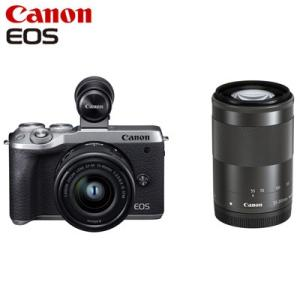 Canon キヤノン ミラーレス一眼カメラ EOS M6 Mark II ダブルズームEVFキット ...