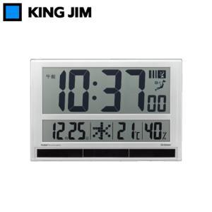 キングジム ハイブリッドデジタル電波時計 GDD-001...