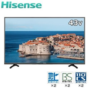 ハイセンス 43V型 LED 液晶テレビ K3120 USBハードディスク録画モデル HJ43K3120