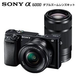 ソニー ミラーレス一眼 デジタル一眼カメラ アルファ α6000 ダブルズームレンズキット ILCE-6000Y-B ブラック|pc-akindo