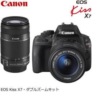 キヤノン デジタル一眼レフカメラ EOS Kiss X7 ダブルズームキット KISSX7-WKIT