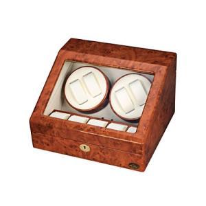 エスプリマ 自動巻き時計用ワインダー ローテンシュラガー LUHW 木製4連ワインディングマシーン LU30004RD ダークウッド
