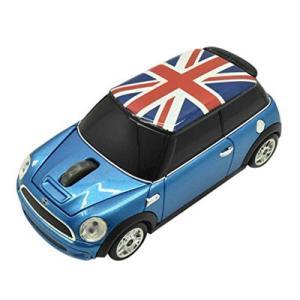 無線マウス ミニクーパー Union Flag カーマウス ワイヤレス 2.4G ブルー LANDMICE MINI-COPSU-BL|pc-akindo