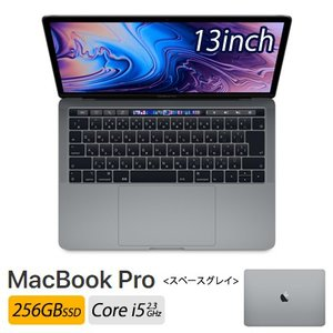 Apple 13インチ MacBook Pro 256GB SSD スペースグレイ MR9Q2J/A...