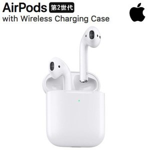 Apple 第2世代 エアポッド ワイヤレス充電ケース付き MRXJ2J/A AirPods wit...