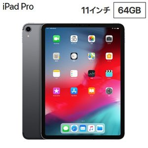 Apple 11インチ iPad Pro Wi-Fiモデル 64GB MTXN2J/A スペースグレ...