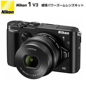 ニコン ミラーレス一眼 Nikon 1 V3 標準パワーズームレンズキット N1-V3-HPLK-BK ブラック