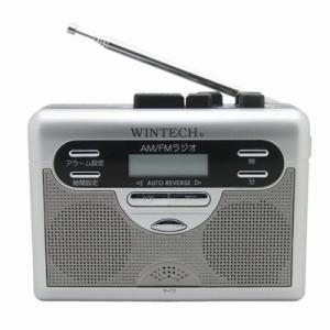 ウィンテック ラジオ付テープレコーダー PCT-11R シルバー WINTECH