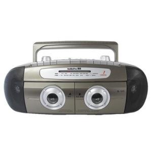 マイク付き ラジカセ ダブルカセットデッキ AudioPro...
