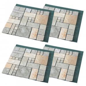 雑草が生えない天然石マット ローマ調4枚組置くだ...の商品画像