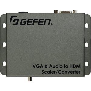 【在庫目安:お取り寄せ】 Gefen EXT-VGAA-HD-SC VGA/ Audio to HDMI変換機 (スケーラー内蔵)|pc-express