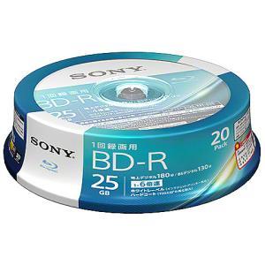 【在庫目安:僅少】SONY  20BNR1VJPP6 ビデオ用BD-R 追記型 片面1層25GB 6倍速 ホワイトワイドプリンタブル 20枚スピンドル