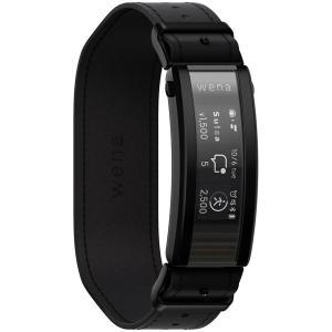 【在庫目安:お取り寄せ】 SONY(VAIO) WNW-C21A/B スマートウォッチ wena 3 leather Premium Black pc-express