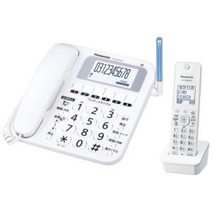 【在庫目安:僅少】Panasonic  VE-GE10DL-W コードレス電話機(子機1台付き)(ホワイト)