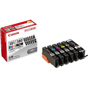 【在庫目安:僅少】 Canon 2344C004 インクタンク BCI-381s+380s/ 6MP|pc-express