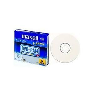 【在庫目安:お取り寄せ】maxell  DRM47PWB.S1P5S A データ用DVD-RAM 4.7GB 2-3倍速対応 1枚ずつプラケース入り5枚パック プリンタブル