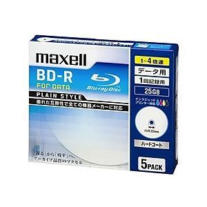 【在庫目安:お取り寄せ】maxell  BR25PPLWPB.5S 4倍速対応データ用BD-R25GB PLシリーズ5枚1枚ずつ5mmプラケース プリント対応ホワイト