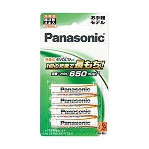 【在庫目安:お取り寄せ】Panasonic  BK-4LLB/4B 充電式エボルタ 単4形 4本パック(お手軽モデル)