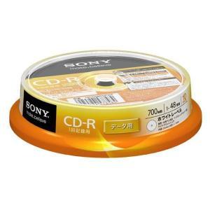 【在庫目安:僅少】SONY  10CDQ80GPWP データ用CD-R 700MB 48倍速 ホワイトプリンタブル 10枚スピンドルパック