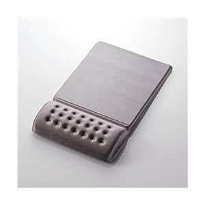 【在庫目安:お取り寄せ】 ELECOM MP-096GY 疲労軽減リストレスト一体型マウスパッド/ ...