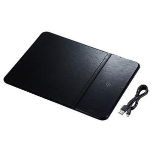 【在庫目安:お取り寄せ】 サンワサプライ MPD-WLC11BK ワイヤレス充電機能付きマウスパッド|pc-express