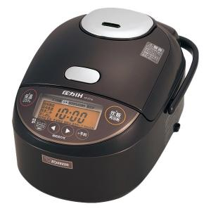 【在庫目安:僅少】 象印マホービン NP-ZT10 TD 圧力IH炊飯ジャー 5.5合 ダークブラウ...