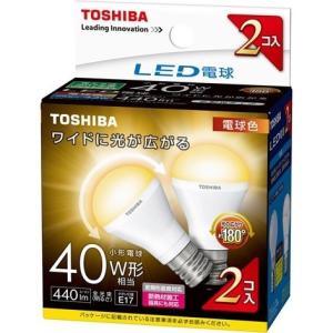 【在庫目安:お取り寄せ】東芝  LDA4L-G-E17/S40W2P LED電球 ミニクリプトン形 広配光 40W相当(電球色) 2個パック