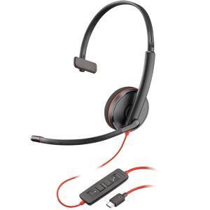 【在庫目安:お取り寄せ】 PLANTRONICS PPBKW-C3210UC USBヘッドセット Blackwire C3210 USB-C 209748-201|pc-express