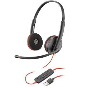【在庫目安:僅少】 PLANTRONICS PPBKW-C3220UA USBヘッドセット Blackwire C3220 USB-A 209745-201|pc-express