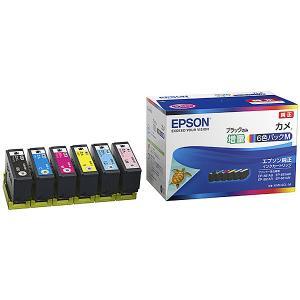 【在庫目安:あり】 EPSON KAM-6CL-M カラリオプリンター用 インクカートリッジ/ カメ(6色パックM/ ブラックのみ増量)|pc-express