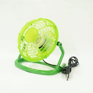 [USB卓上扇風機(グリーン)]L212-LILENG-816/GR 首が上下に360°回転するUSB卓上扇風機