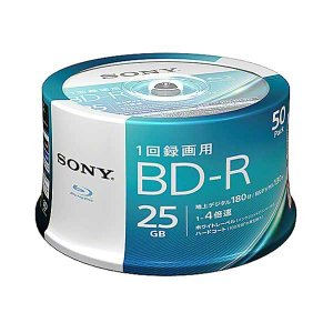 SONY 50BNR1VJPP4 BD-R 4倍速 50枚組 ビデオ用ブルーレイディスク|パソコン工房 PayPayモール店