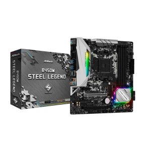 ASRock B450M Steel Legend [MicroATX/AM4/B450] Micr...